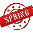 Stamp - SPRING — Stock Photo