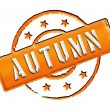 Stamp - AUTUMN — Stock Photo