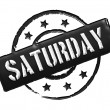 Stock Photo: Stamp - SATURDAY