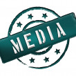 Stamp - MEDIA — Stock Photo