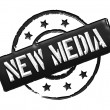 Stamp - NEW MEDIA — Stock Photo