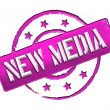 Stamp - NEW MEDIA - Stock Photo