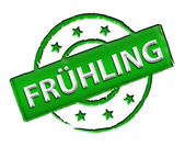 Stamp - FRUEHLING — Stock Photo