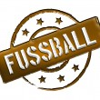 Stamp - FUSSBALL - Stock Photo