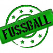 Stamp - FUSSBALL — Stock Photo