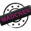 Stamp - mädchen — Stock Photo