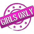 Stock Photo: Stamp - Girls only