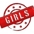 Stamp - Girls — Stock Photo