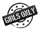 Stamp - Girls only — Stock Photo