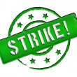 Stamp - Strike — Stock Photo