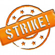 Stamp - Strike - Stock Photo