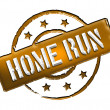 Stamp - HOME RUN - Stock Photo