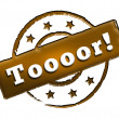 Stamp - Toooor! - Stock Photo