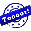 Stamp - Toooor! — Stock Photo