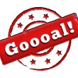 Stamp - Goooal! — Stock Photo