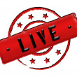 Stock Photo: Stamp - LIVE