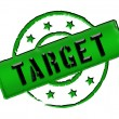 Stamp - TARGET — Stock Photo