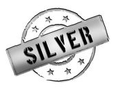 Stamp - Silver — Stock Photo