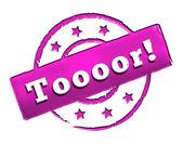Stamp - Toooor! — Stock Photo
