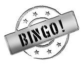 Stamp - BINGO! — Stock Photo