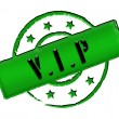 Stamp - VIP — Stock Photo