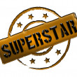 Stamp - SUPERSTAR — Stock Photo #10929351