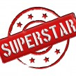 Stamp - SUPERSTAR - Stock Photo