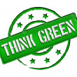 Stamp - THINK GREEN — Stock Photo #10932704