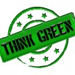 Stamp - THINK GREEN — Stock Photo #10932804