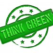 Stamp - THINK GREEN — Stock Photo