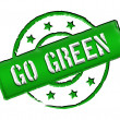 Stock Photo: Stamp - GO GREEN
