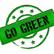 Stamp - GO GREEN — Stock Photo