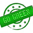 Stamp - GO GREEN — Stock Photo #10933347