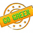 Stamp - GO GREEN — Stock Photo #10933525