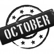 Stamp - OCTOBER - Stock Photo