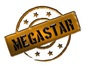 Stamp - MEGASTAR — Stock Photo