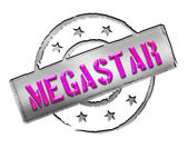 Stamp - MEGASTAR — Stock Photo