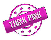 Stamp - THINK PINK — Stock Photo
