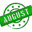 Stamp - AUGUST - Stock Photo