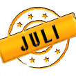 Stamp - JULI — Stock Photo