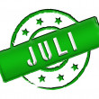 Stamp - JULI - Stock Photo