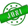 Stamp - JUNI - Stock Photo