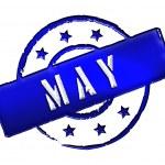 Stamp - MAY — Stock Photo #10942795