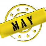 Stamp - MAY — Stock Photo #10943015