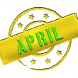 Stamp - APRIL - Stock Photo