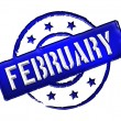 Stamp - FEBRUARY - Stock Photo