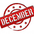 Stamp - DECEMBER — Stock Photo