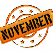 Stamp - NOVEMBER - Stock Photo