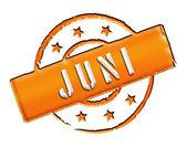 Stamp - JUNI — Stock Photo