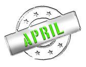 Stamp - APRIL — Stock Photo